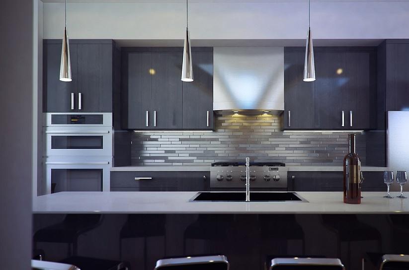 3D визуализация интерьера квартиры в стиле Хайтек 1